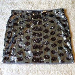 Express New w/Tags Sequin Gray & Black Mini Skirt